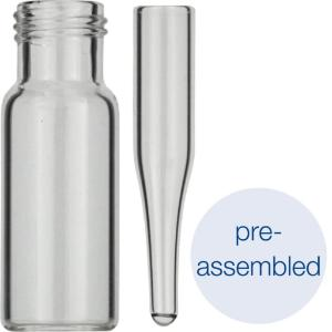 Screw neck vial, N 9 (702282) with assembled conical insert (702813)