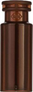 Snap ring/crimp neck vial,N 11,11, 6×32 mm, PP amber, 0,2 ml glass insert