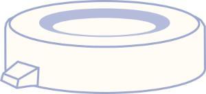 PE snap cap, N 18, Polyethylene, transparent, closed top, no liner