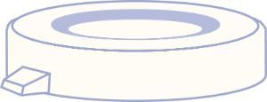 PE snap cap, N 22, Polyethylene, transparent, closed top, no liner