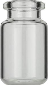 Crimp neck vial, N 20, 22,0×38,25 mm, 6,0 ml, rounded bottom, bev. neck, clear