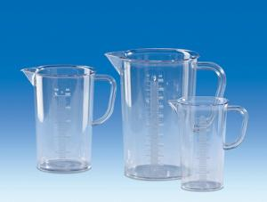 Measuring beakers with handle