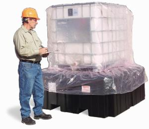 Protection cover for poly IBC spill containment pallets, PIG®