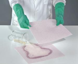 Absorbent mat neutralizable