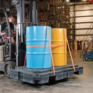 Pallet 2 drum heavy-duty low-profile